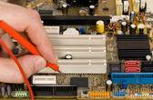 Misurazione e circuito stampato scheda diagnostica — Foto Stock