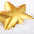Royalty-Free Stock Photo: Christmas star on the snow