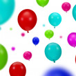 Background of color party balloons — Stock Photo
