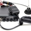 CB radio with microphone - Stock Photo