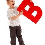 "Letter ""B"" boy — Stock Photo"