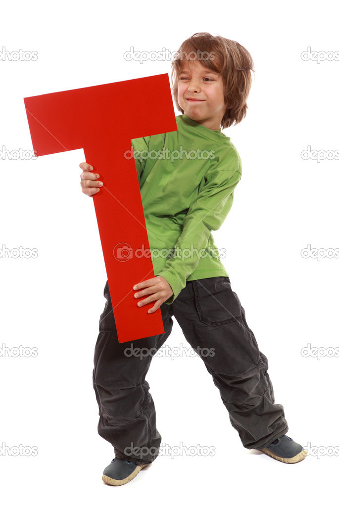 Letter T boy - See all letters in my Portfolio — Stock Photo #4386391
