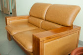 Leather sofa in hotel — Stock Photo