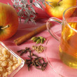 Non-alcoholic apple punch — Stock Photo