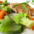 Steamed vegetable with pork cutlet — Zdjęcie stockowe