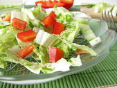 Chinese cabbage salad with red bell pepper — Stock Photo