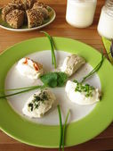 Fresh Labneh - Strained yogurt — Stock Photo
