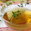 Herbal tea with thyme - Stock Photo