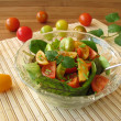 Salad with colored tomatoes — Stock Photo