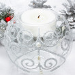 Foto Stock: Christmas candle decoration