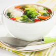 Soup with chicken meatballs and fresh vegetable — Stock Photo #5256488