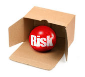 Risk concept in box — Stock Photo