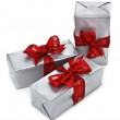 Royalty-Free Stock Photo: Christmas presents on white