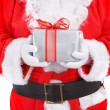 Royalty-Free Stock Photo: Santa holding present