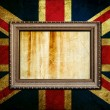 Frame on England flag — Stock Photo
