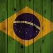 Wooden Brazil flag — Stock Photo #4059335