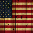 Wooden USA flag — Stock Photo