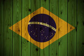Wooden Brazil flag — Stock Photo