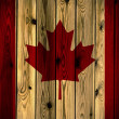 Royalty-Free Stock Photo: Wooden Canada flag