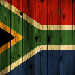 Wooden South Africa flag — Stock Photo