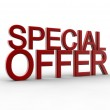 Red special offer — Stock Photo