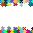 Multicolored puzzle frame — Stock Photo