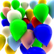 Many colored balloons — Stock Photo