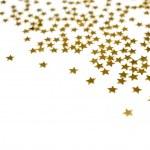 wielu złotych gwiazd — Zdjęcie stockowe