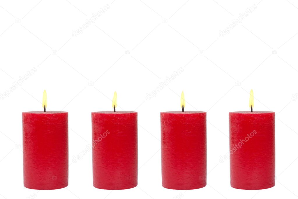 red candle white background - photo #12