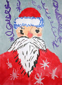 Figure Santa Claus gouache — Photo