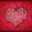 Valentine, patterned hearts — Stock Photo