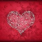 Valentine, patterned hearts — Stock Photo #4892405