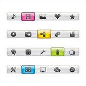 Multimedia Menu Navigation — Stock Vector