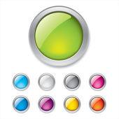 Farbige 3d buttons — Stockvektor