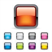 Colored 3d Buttons — Vector de stock