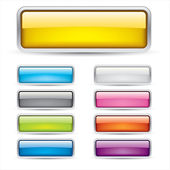 Colored Bars and Buttons — Stock Vector