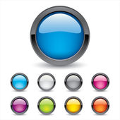 Colored 3d Buttons — Stock Vector