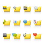 Icon Set - Aplication Folders — Stock Photo