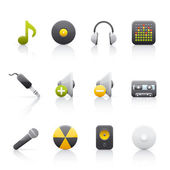 Icon Set - Audio Equipment — Stock Photo