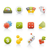 Icon Set - Casino & Gambling — Stock Photo