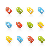 Icon Set - Colored Tags — Stock Photo