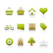 Icon Set - Ecology — Stock Photo