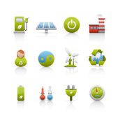 Icon Set - Environmental Conservation — Stock Photo