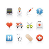Icon Set - Hospital and Medical Centre — Stock Photo