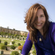 Woman Vacationing At Versailles — Stock Photo
