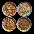 Sugary Cereals — Stock Photo