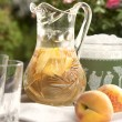 White Peach Sangria - Stock Photo