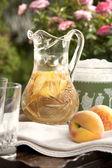 White Peach Sangria — Stock Photo