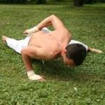 Yoga in park — Stock Photo #4682413