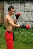 Boxing man — Stock Photo
